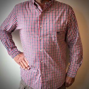Chaps Red, White & Blue Easy Care Button Down